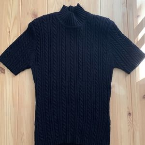 Navy Blue Jones New York Sweater (Short Sleeve)